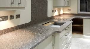 corian kitchen top:  corian kitchen with hob cut out