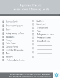 checklist of items to take to your next presentation or speaking checklist of items to take to your next presentation or speaking event anna blanch rabe
