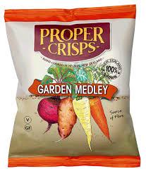 Proper Crisps Garden Medley Crisps <b>100g</b>