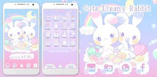 Pastel colors Wallpaper <b>Cute</b> Dreamy <b>Rabbit</b> Theme - Apps on ...