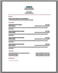 word sample basic resumes basic resume format word  easy  printable resumes