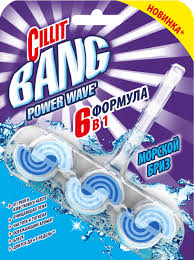 """<b>Туалетный блок Cillit</b> Bang """"Power Wave 6 в 1"""", твердый, морской ..."""