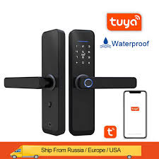 Tuya lock <b>Smart</b> lock door wifi fingerprint <b>door lock security door lock</b> ...