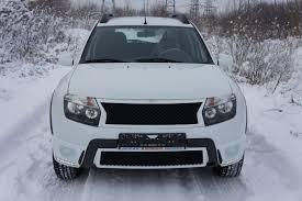 <b>Накладки</b> LED (светодиодные <b>ДХО</b>) на ПТФ Renault Duster 2010 ...