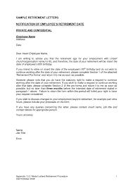 letter of retirement resume cover letter template letter of retirement