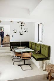 space living room olive: chez stacphanie ferret olive green banquette