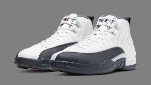 Air Jordan <b>12</b> Retro 'White/Dark Grey/Gym Red' 130690-160 ...