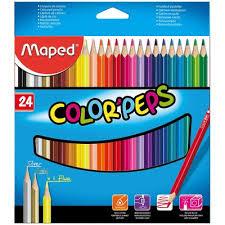 <b>Карандаши цветные Maped</b> 24 цвета трехгранные в Петербурге.