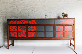 modern painted furniture. midcentury modern furniture gorgeously revamped by lucy turner uk painted