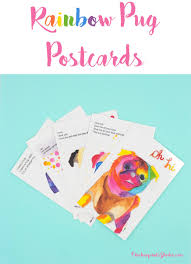 <b>Rainbow Pug</b> Postcard Set – ChickenpantsStudio