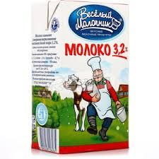 <b>Молоко Веселый</b> Молочник <b>пастеризованное</b>, 3.2%, 0.95 л ...