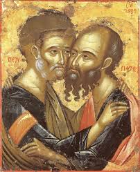 Αποτέλεσμα εικόνας για Τῶν Ἁγίων Πέτρου καἰ Παῦλου τῶν Πρωτοκορυφαίων Ἀποστόλων (29 Ἰουνίου)