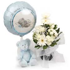 Image result for flower arrangements baby boy