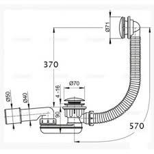 <b>Слив</b>-<b>перелив для ванны Click-Clack</b> с сифоном Alcaplast A507KM