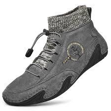 <b>SENBAO Men Boots Autumn</b> Winter Socks Casual Leather Shoes