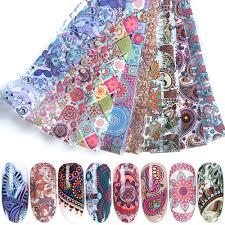 <b>10pcs</b> 20*4cm <b>Colorful Nail Foil</b> Set Adhesive Transfer Sticker ...