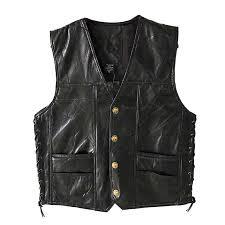 <b>PU</b> Leather <b>Mens</b> Solid Color <b>Vest 2019</b> New Summer Motorcycle ...