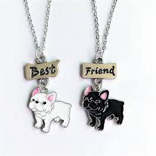 2PCS/SET <b>Cartoon</b> Lovely <b>Bulldog Charm</b> Pendant Necklaces Dog ...