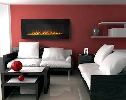 room paint red: living room ideas red brick fireplace