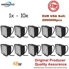 Modoao 1pcs 10pcs waterproof 48w Flood/Spot <b>led Work Light</b> bar ...