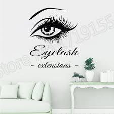 <b>YOYOYU Vinyl</b> Eye Eyelashes <b>Wall Stickers</b> Eyebrows Interior ...
