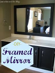 build matching bathroom mirrors  diy framed mirror