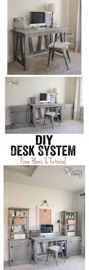 love this diy desk system completely customizable too free woodworking plans and tutorial at amazing diy home office desk 2 black