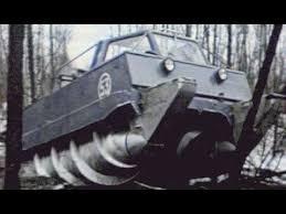 Russian ALL TERRAIN <b>military vehicle</b> drives on <b>snow</b> swamp mud ...