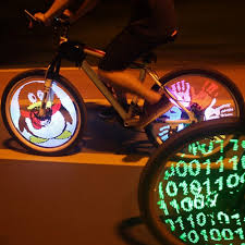 Programmable Bicycle <b>Lights</b> 128 LED DIY <b>Bike Wheel Spokes</b> ...