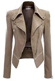 Buy jiejiegao <b>Womens Long</b>-<b>Sleeved</b> Pu <b>Leather</b> Jacket Winter ...