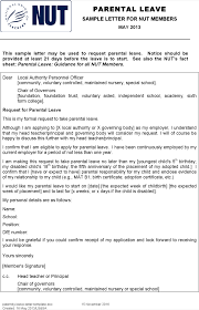 paternity leave letter informatin for letter paternity leave letter template pdf doc 1 page s