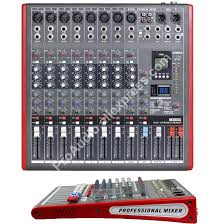 <b>MICWL</b> LE8 <b>Pro 8 Channel</b> 99 DSP Effects Stereo Microphone Mixer ...