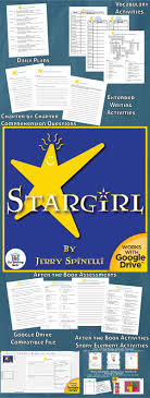 best images about stargirl activities student stargirl novel study book unit
