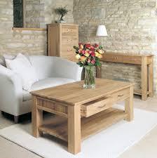 mobel solid oak 4 drawer coffee table baumhaus aston oak coffee table