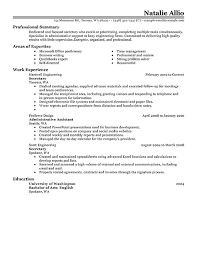 secretary resume example classic   pngall job industries