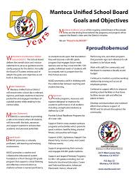 manteca unified school district ca board goals and objectives  goals and objectives 2016