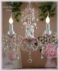 chic pink white crystal cherub chandelier with roses chic pink chandelier pink