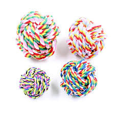 2019 <b>Hand Woven Dog</b> Toys With <b>Pet</b> Cotton Rope Balls Bite ...