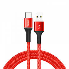 <b>Кабель Type</b>-<b>C - USB 2.0</b> для зарядки 1 м 3А плетеный Baseus ...