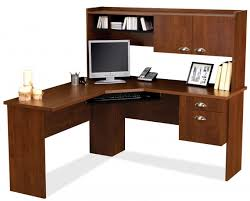 wooden l shaped desk with hutch plus drawer and computer stand ideas plus computer set and black wood office desk 4