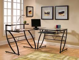 modern home office desk with comfortable and awesome design but luxurious in style ideas awesome glass corner office desk glass