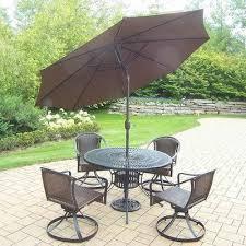 pc dining set umbrella