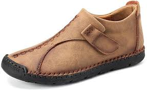 gracosy <b>Men</b> Casual Boots <b>Spring</b> Winter Vintage Leather <b>Hand</b> ...