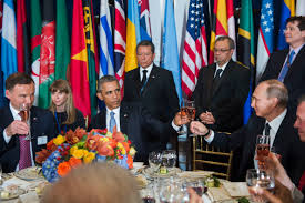 Image result for official lunch obama UN