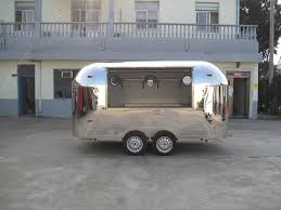 Multifunctional full <b>stainless</b> steel KN 400 Street <b>Mobile food</b> trailer ...