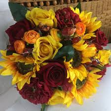 a large brides <b>bouquet of sunflowers</b> and roses <b>Yellow</b> Rose ...
