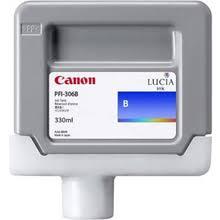 <b>Canon</b> 6665B001 <b>PFI</b>-<b>306B Blue</b> Ink Cartridge (<b>330ml</b>) - 6665B001