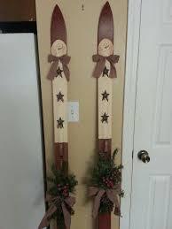 Antique <b>snowman</b> painted <b>ski</b>   <b>Xmas</b> crafts, <b>Christmas</b> craft projects ...