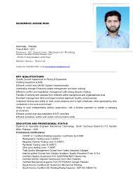 akram cv qc supervisor mechanical
