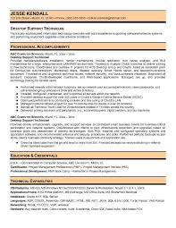desktop support technician resumefree resume templates
